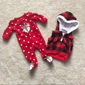 Carter's Fleece Sleeper and Vest (Newborn)